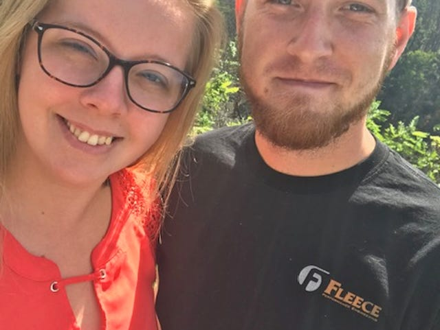 Alana and Derek Hufford honeymooned last year in the Smokey Mountains. Early Saturday, roughly 14 months after the wedding, Derek Hufford died in an off-road vehicle crash.