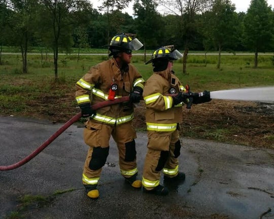 Sheffield Volunteer Firefighters Derek Hufford and Alana Hufford trained together. Derek Hufford died early Saturday in an off-road vehicle crash in Carroll County.