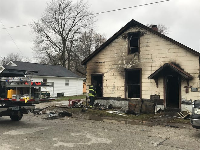 Frankfort firefighters continued to investigate after an eight-month-old boy was killed in a fire that tore through this house Monday, Dec. 2, 2019, in the 1300 block of West Jefferson Street in Frankfort.