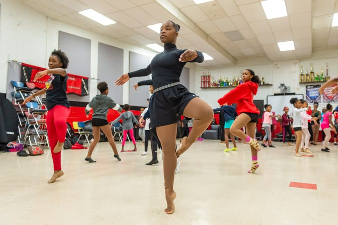 A'myra Menard at Dance rehearsal for the Creole Nutcracker performance at Northside High School in preparation for the Dec. 8 show at Angelle Hall.  Wednesday, Nov. 27, 2019.