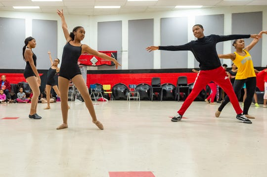 Erica Porter and Josh Lackland during Dance rehearsal for the Creole Nutcracker performance at Northside High School in preparation for the Dec. 8 show at Angelle Hall.  Wednesday, Nov. 27, 2019.