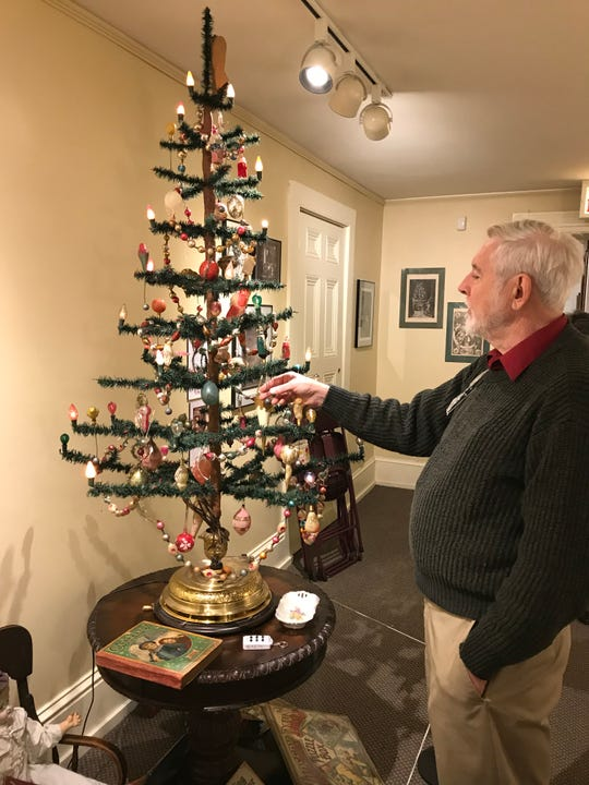 Curator George Johnson talks about this tree at the Decorative Arts Center that looks like one President William Howard Taft had in the White House during his term from 1909 to 1913.