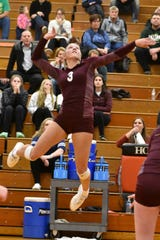 Charyl Stockwell's Paige Gallentine received all-state volleyball honors all four years.