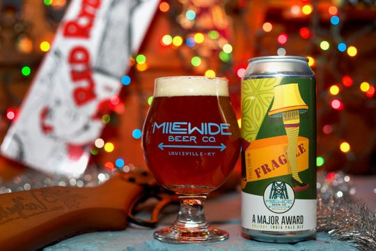 """Mile Wide Beer Co's """"A Major Award"""" beer."""