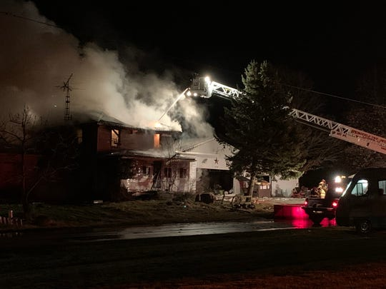 No one was in the Bowman Street Road house in Shelby at the time of the fire, which was called in at 6:28 a.m.No firefighters were injured in the blaze. The house was declared a total loss.