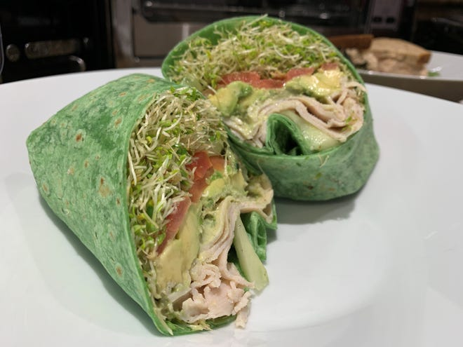 The California as a spinach wrap from Summer Day Market & Café, Marco Island.