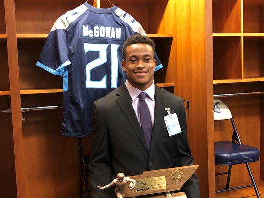 Middle Tennessee Christian School senior running back Kemari McGowan was named DII-A Mr. Football Monday.
