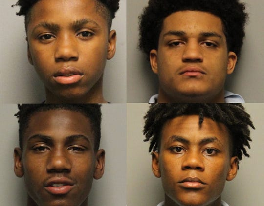 Clockwise from top left: Decorrius Wright, 16; Brandon Caruthers, 17; Morris Marsh, 17; Calvin Howse, 15