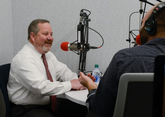 "Chief Clerk of the Senate Russell Humphrey joins Tennessean reporters Joel Ebert and Natalie Allison in the newsroom to record the ""Grand Divisions"" podcast."