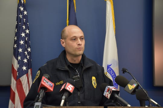 Metro Nashville Police Lt. Blaine Whited gives an update on the search for four escaped juveniles on Monday.