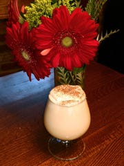 Ariane Kitchen and Bar makes its own eggnog, topped with a nutmeg sprinkle, during the holidays.
