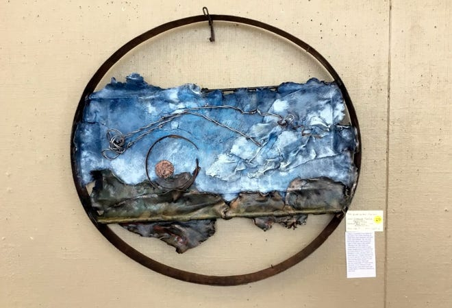"Local artist Diane LeMarbe took home Best of Show honors during the November Recycled Art Show at the Deming Art Center, 100 S. Gold Street. Her winning art was titled, ""Wind Called Mariah. The show was sponsored by Keep Luna County Beautiful."