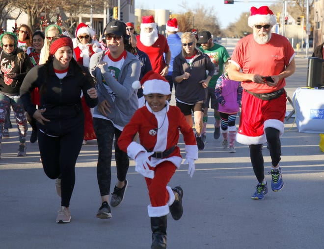 Eddy County residents start off the annual United Way Santa Run in Carlsbad on Nov. 30, 2019. Due to the COVID-19 pandemic and the state's two-week shutdown orders the plan is to move the race to the spring months in 2021.
