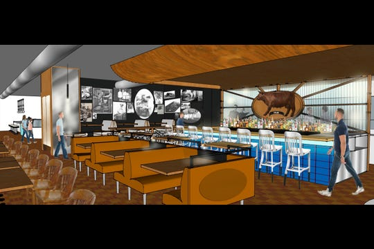 A rendering of what the restaurant portion of Guernsey Farms Dairy in Novi will look like upon completion of  renovations expected next year.