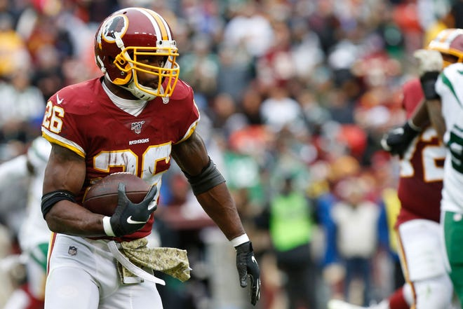 Longtime Green Bay Packers' nemesis Adrian Peterson is still effective rushing the ball for Washington.