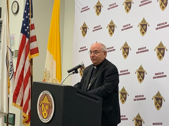 Diocese of San Bernardino Bishop Gerald R. Barnes on Friday said Mass would continue to be said in Catholic churches while other churches in the Coachella Valley are choosing to livestream their services as a precaution against the spread of coronavirus.