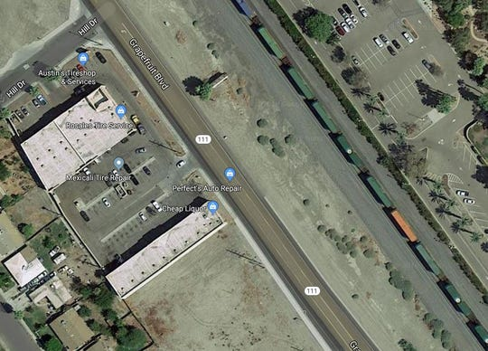Anya Salomon, 39, of Coachella, was struck by a train across the street from 51-701 Grapefruit Blvd. The business is directly across from the rail line.