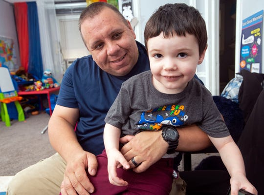 Dominick Bohoy and his 4-year-old son, Zachary Hattell-Bencivenga, are thankful to the community for their outpouring of support following the unexpected death of Trina Rael, Bohoy's wife and Zach's mother.