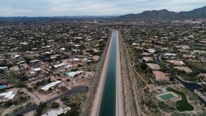 The Central Arizona Project Canal runs through  Scottsdale, Ariz., carrying Colorado River water.