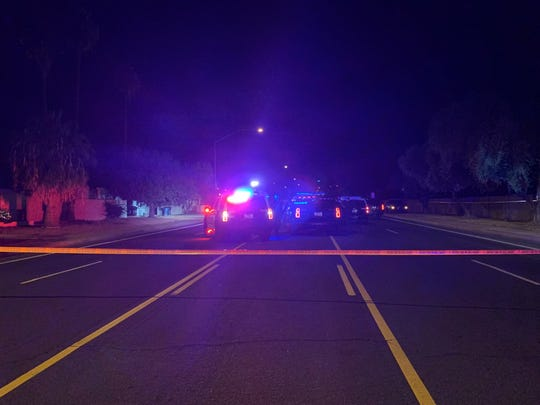 Scene of officer-involved shooting in Mesa near Broadway and Gilbert roads on Dec. 2, 2019.