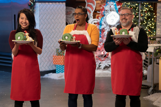 Lisa Chambers (center) is from Avondale. She competes in Holiday Season 2, Episode 205 of Netflix's Nailed It! baking show.