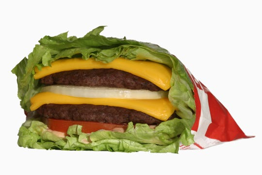 Protein Burger from the 'secret' In-N-Out Burger menu.