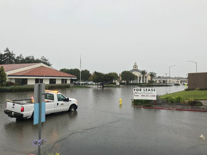 Floodwaters have covered streets in the area of Post Drive and Calle Del Adobe in North Salinas Dec. 2, 2019.