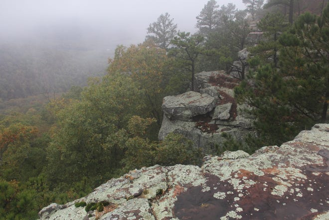 Sam's Throne is a popular hiking area in Newton County, Arkansas.