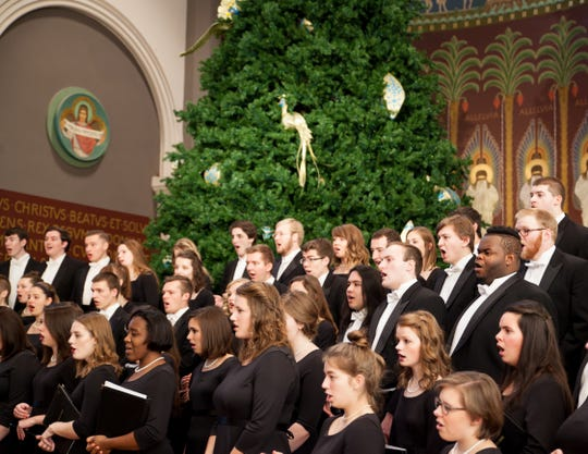 Students perform at the 2016 Christmas at St. John's concert. This year's event begins at  8 p.m. Dec. 7 in the Basilica of St. Mary in Minneapolis.