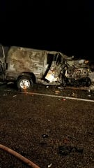 A Ford van was involved in a fatal crash Sunday night.
