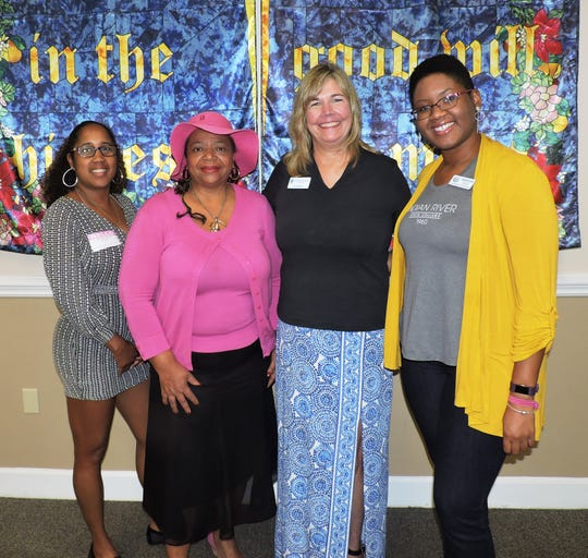 "Panelist Shay Gibson, left, Soroptimist International of Stuart member Eula Clark, club President Jill Keegan and panelist Alexandria Arnold at the ""Dream It Be It"" seminar at the Palm City Presbyterian Church."