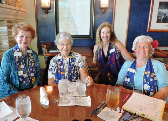 Mary-Jo Horton, left, Evelyn Degeller, Amy Nuttall and Barbara Bulis at Soroptimist International of Stuart's 65th birthday bash at The Harborage in Stuart on Nov. 21, 2019.