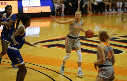 UTEP guard Arina Khlopkova is the Conference USA freshman of the week