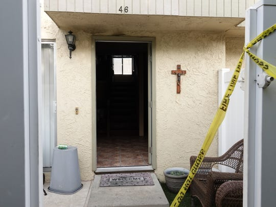 Ventura County fire and arson investigators continued to collect evidence Monday afternoon at a Santa Paula apartment where a fire started Sunday.