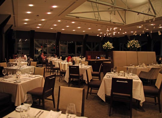 The dining room at X2O Xaviars on the Hudson in Yonkers.