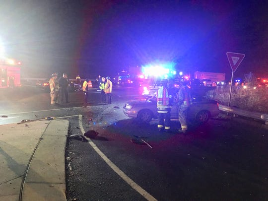 A serious crash closed down Del. 7 in the area of Del. 4 on Monday morning, Delaware State Police said.