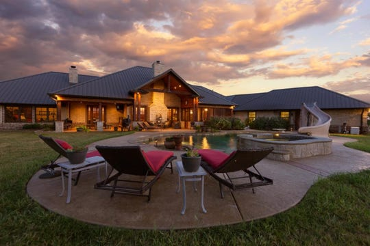 A lovely 7,000-square foot home is seen at the Durham Ranch.