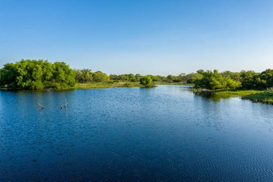 A beautiful lake is seen at the Durham Ranch in Clay County.