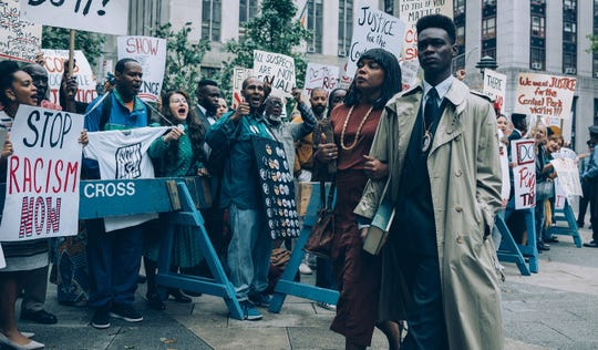 """""""When They See Us"""" (Netflix) with Aunjanue Ellis and Ethan Herisse."""