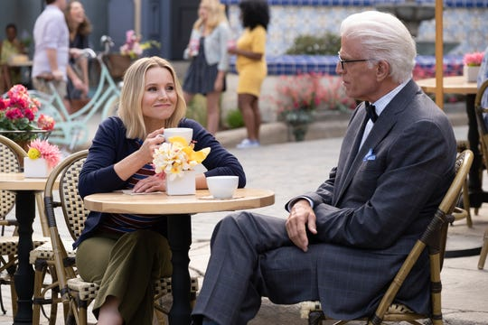 """""""The Good Place"""" (NBC) with Kristen Bell and Ted Danson"""
