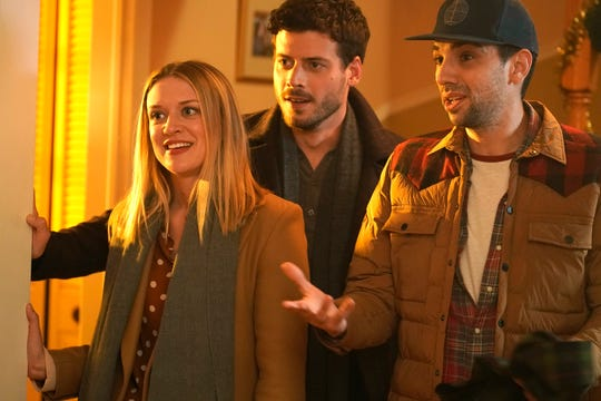 Chelsea Frei, left, Francois Arnaud and Jay Baruchel play the Moody children in Fox's 'The Moodys.'