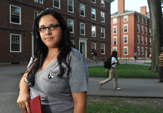 PLEASE TRANSLATE Sylvia Rodriguez, 23, is a Harvard University student working on her master's in education in Cambridge, Massachusetts. Brought into the country illegally when she was two years old, she faces many of the challenges illegal immigrants face, and she doesn't have the money for the second semester of school.