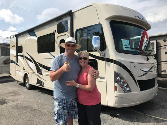 Brian and Stephanie Moore in Wilmington, North Carolina, in May 2017.