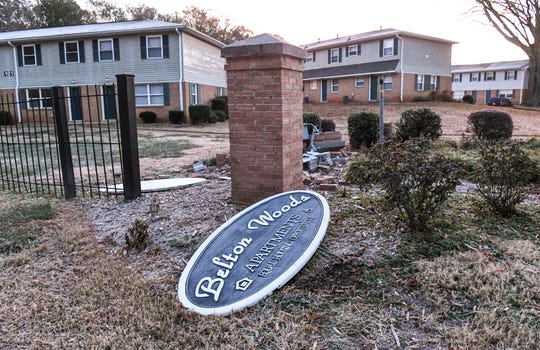 A shooting Monday night at Belton Woods Apartments in Anderson.