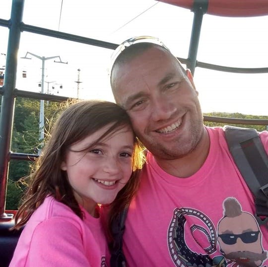 David Lee and his daughter Mikaylah Lee, 8, of Quakertown in Bucks County, Pennslyvania, will take the Polar Coaster Challenge at Six Flags Great Adventure.