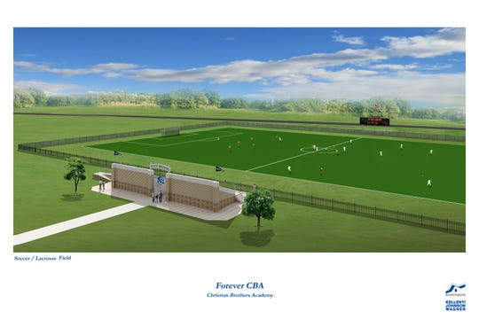 A rendering of a proposed soccer and lacrosse field at Christian Brothers Academy in Middletown.