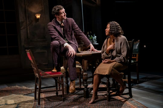 """Michael Urie and Nikki M. James in a scene from """"A Bright Room Called Day"""" by Tony Kushner."""