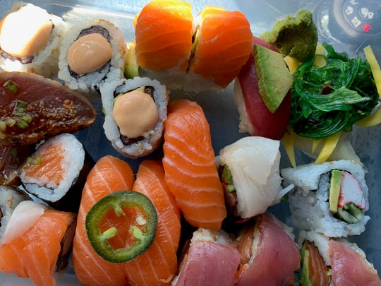 An assortment of sushi from Local 130 Seafood in Asbury Park.