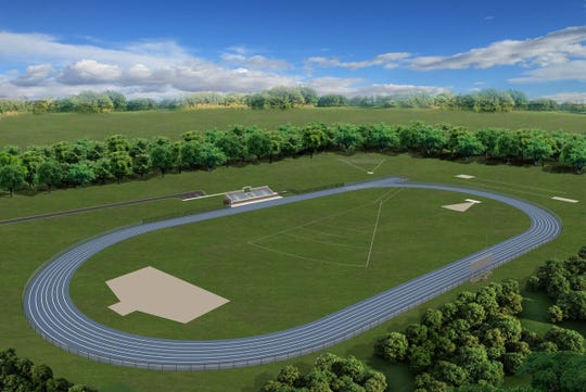 A rendering of a proposed track at Christian Brothers Academy in Middletown