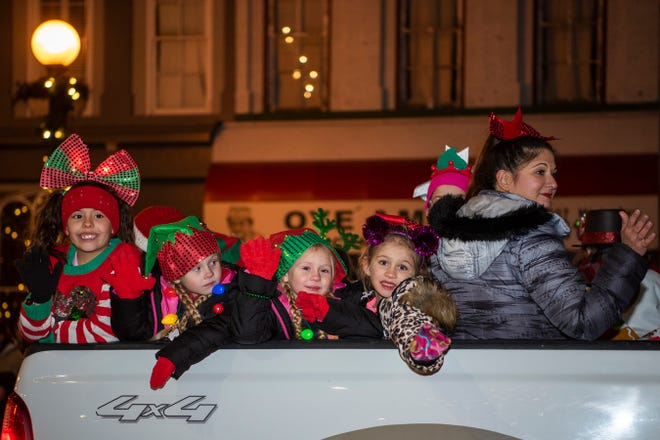 The Marshall Christmas Parade takes place on Monday, Dec. 2, 2019 in downtown Marshall, Mich.
